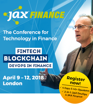 JAX Finance the conference for tech in finance 9-12 April 2018